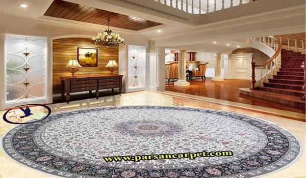 فرش گرد بزرگ
